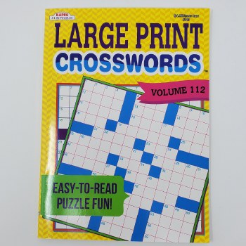 Crosswords Large-Print Puzzle Book