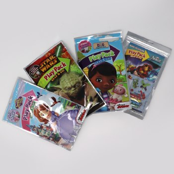 WISHLIST DONATION - Cartoon Coloring and Sticker Play Packs - Assorted Themes