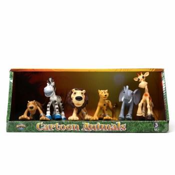 Cartoon Animals 6-piece Action Figure Set