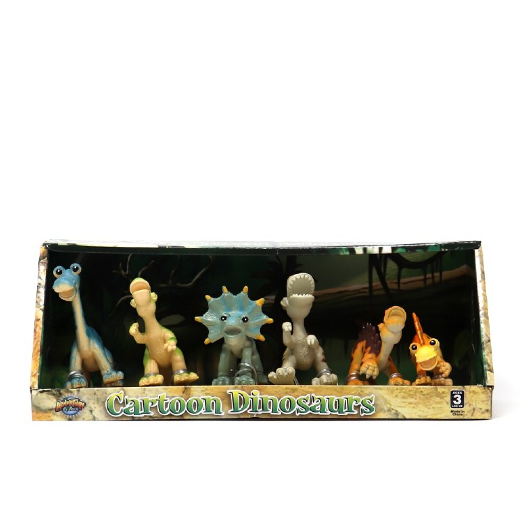 Cartoon Dinosaur 6-piece Action Figure Set
