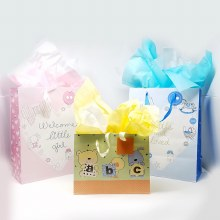 Newborn Themed Gift Bag w/Tissue Paper