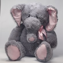 Baby Pink Plush Elephant