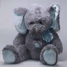 Baby Blue Plush Elephant