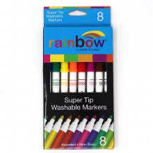 WISHLIST DONATION - Rainbow Super Tip Washable Markers 8-pack