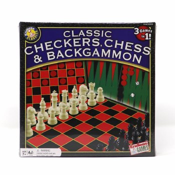 WISHLIST - Checkers, Chess and Backgammon 3-in-1 Game Set