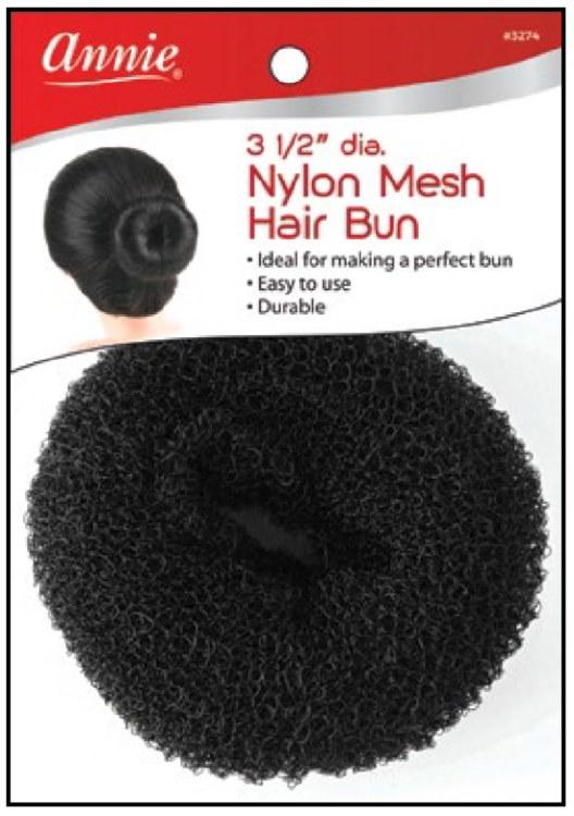 "Hair Bun Donut Type 3.5"", Nylon Mesh #3274"