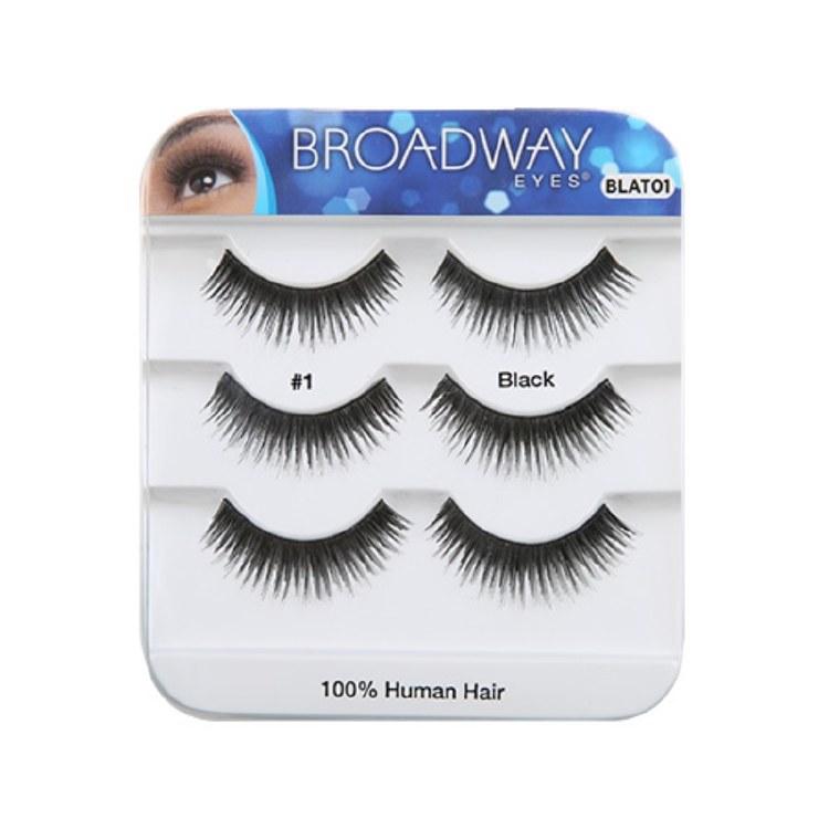 Kiss Broadway Eyes Eyelashes #1, Black