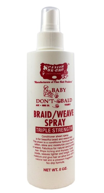 Baby Don't Be Bald Braid & Weave Spray 8oz