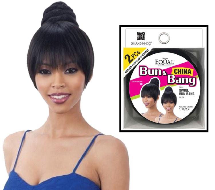 FreeTress Equal Swirl Bun & Bang