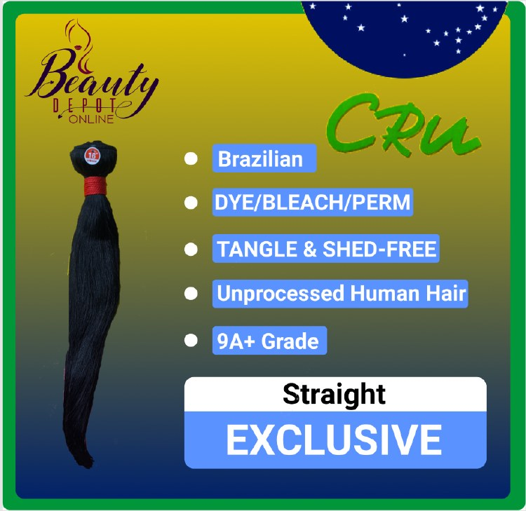 CRU 9A Straight Unprocessed Human Hair Bundle