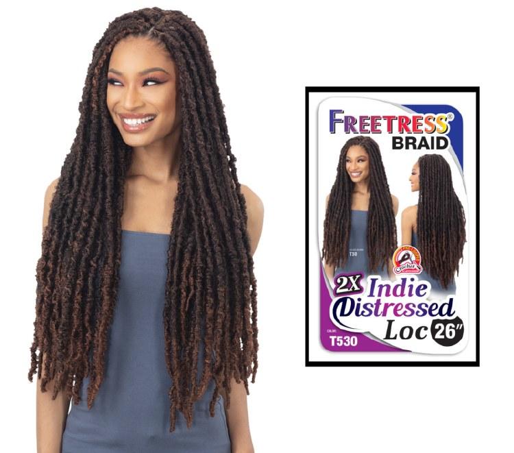 FreeTress Braid 2X Indie Distressed Loc 26 Inch