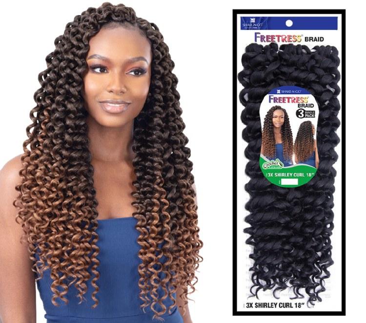 FreeTress Braid 3x Shirley Curl 18 Inch