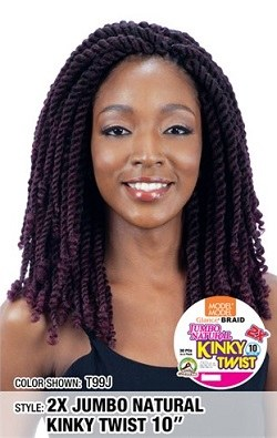 Glance Braid 2x Jumbo Natural Kinky Twist 10 Inch
