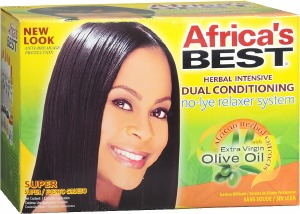 Africa's Best No-Lye Relaxer Kit Super Strength