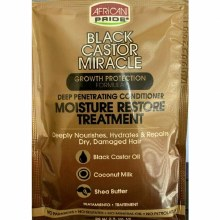 African Pride Black Castor Miracle Moisture Restore Treatment Packette