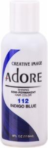 Adore Semi-Permanent Hair Color 112 Indigo Blue 4oz