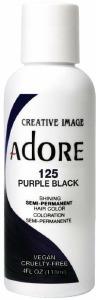 Adore Semi-Permanent Hair Color 125 Purple Black 4oz