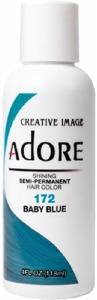Adore Semi-Permanent Hair Color 172 Baby Blue 4oz