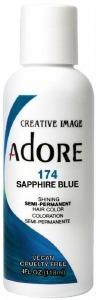 Adore Semi-Permanent Hair Color 174 Sapphire Blue 4oz