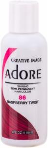 Adore Semi-Permanent Hair Color 086 Raspberry Twist 4oz