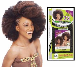 2X Afro Kinky Bulk 24 Inch