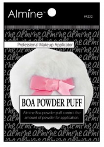 Boa Puff with Ribbon Large 8.5 x 8.5 x 2.5cm #4232