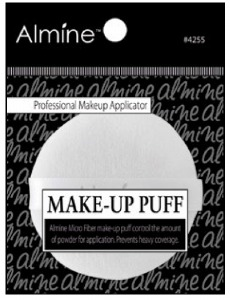 Round Makeup Puff 6.0 x 6.0 x 1.0cm Microfiber Material #4255