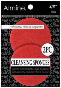 "Rubber Cleansing Sponge, 3/8"" 2ct, Red #4282"