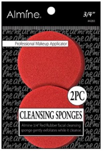 "Rubber Cleansing Sponge, 3/4"" 2ct #4283"
