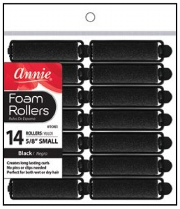 Foam Rollers Small 14ct, Black #1061