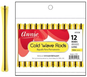 Cold Wave Rod Long 12ct, Yellow #1108