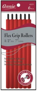 "Flex Grip Rollers 1/2"" Dia 7"" Long 6ct, Red #1271"