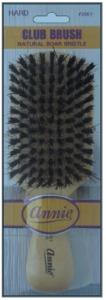 Hard Club Brush Light Brown 50% Boar Bristle and 50% Firm Nylon Bristles #2061