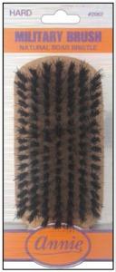 Hard Military Brush Light Brown 50% Boar Bristle and 50% Firm Nylon Bristles #2062