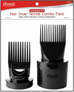 Universal Fit Hair Dryer Nozzle Combo Pack, Black #2988