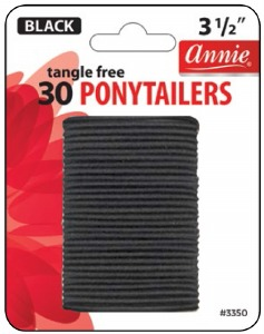 Tangle Free Ponytailer 30ct, Black #3350