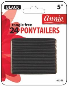 Tangle Free Ponytailer 24ct, Black #3353