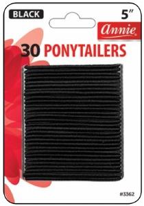 Tangle Free Ponytailer 30ct, Black #3362