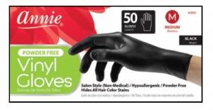 Vinyl Gloves Medium 50ct, Black #3851