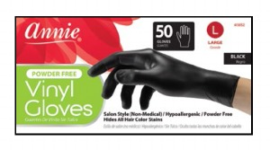 Vinyl Gloves Large 50ct, Black #3852