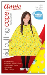 Kid Cutting Cape, Yellow Pattern #3961