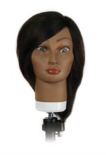 "Hairkins Mannequin Head 14""-16"" Eunice 100% Human Hair #4808"