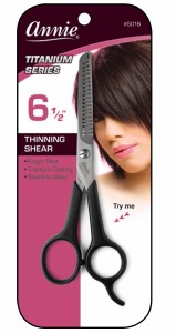 "Thinning Shears 6.5"" 20 Teeth Black #5016"