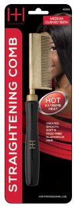 Thermal Straightening Comb Medium Teeth Curved #5503