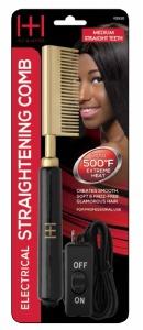 Electric Straightening Comb Medium Straight Teeth #5530