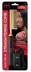 Electric Straightening Comb Medium Curved Teeth #5531