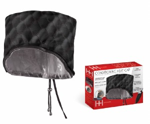 3 in 1 Professional Washable Conditioning Heat Cap Black #5757