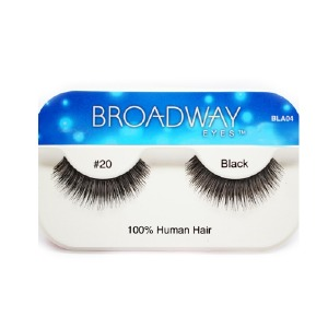 Kiss Broadway Eyes Eyelashes #20, Black