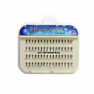 Kiss Broadway Eyes Eyelashes Knot Free Medium, Black
