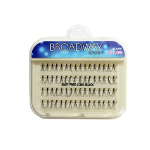 Kiss Broadway Eyes Eyelashes Knot Free Long, Black